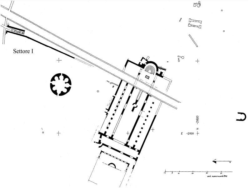 Εικ.1  (Επιπεδομετρία Βασιλικής Μητρόπολης - M. Ricciardi)
